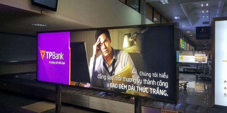 Light box in Noi Bai International Airport